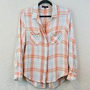 Velvet Heart Plaid lightweight Flannel Shirt